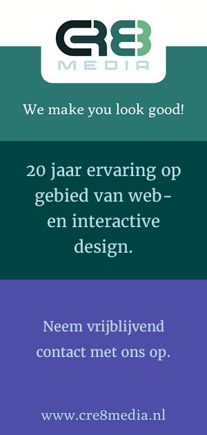 20 jaar ervaring op gebied van web- en interactive design - CRE8media